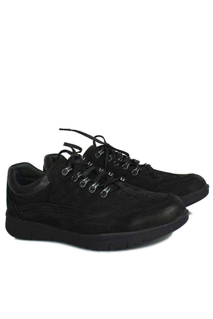 King Paolo 8668 008 Erkek Siyah Günlük Büyük Numara Ayakkabı