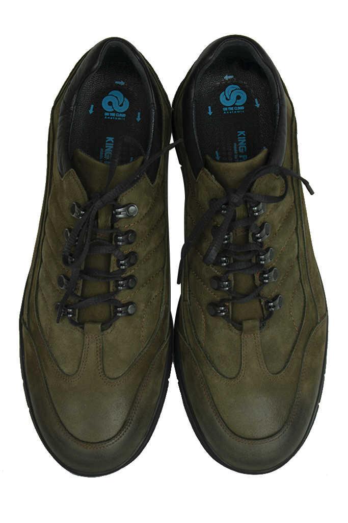 King Paolo 8668 677 Erkek Haki Günlük Büyük Numara Ayakkabı