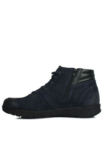 King Paolo - King Paolo 8983 427 Men Navy Blue Nubuck Boot (1)