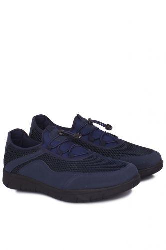 46 47 48 49 50 Büyük Numara Ayakkabı - King Paolo 9213 427 Erkek Lacivert File Günlük Ayakkabı (1)