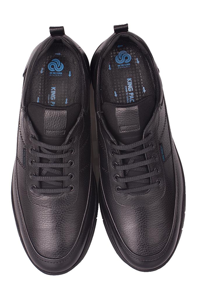 King Paolo 9375 014 Erkek Siyah Günlük Büyük Numara Ayakkabı