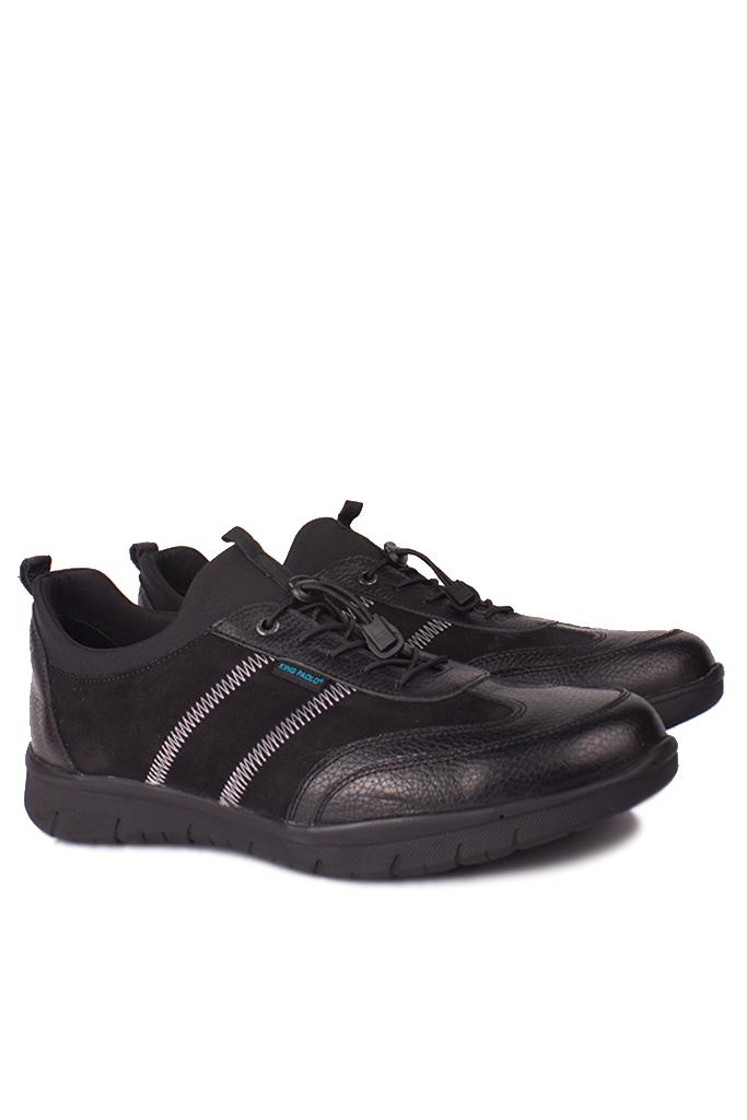 King Paolo 9482 014 Erkek Siyah Günlük Büyük Numara Ayakkabı