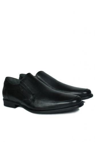 46 47 48 49 50 Büyük Numara Ayakkabı - King Paolo 1310 014 Erkek Siyah Klasik Ayakkabı (1)