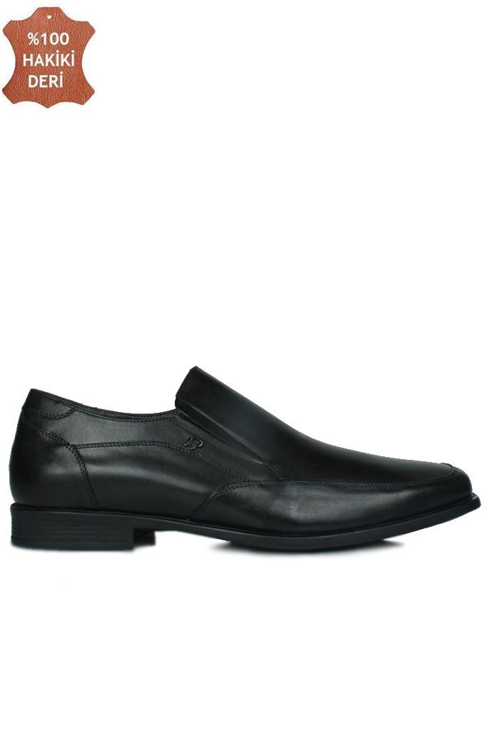 King Paolo 1310 014 Erkek Siyah Klasik Büyük Numara Ayakkabı