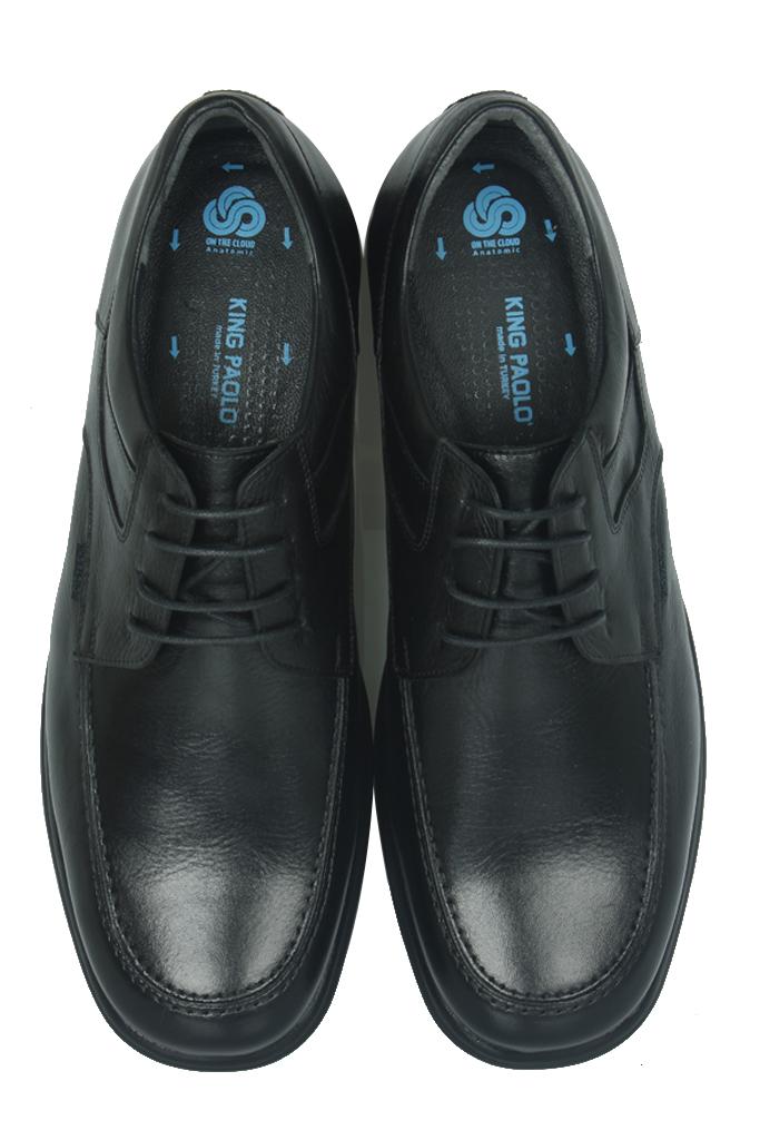 King Paolo 305 013 Erkek Siyah Klasik Büyük Numara Ayakkabı