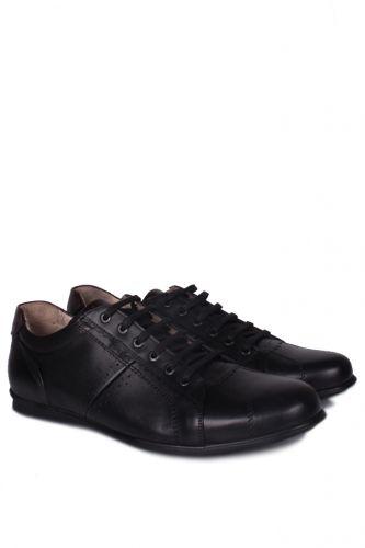 46 47 48 49 50 Büyük Numara Ayakkabı - King Paolo 7140 013 Erkek Siyah Günlük Ayakkabı (1)