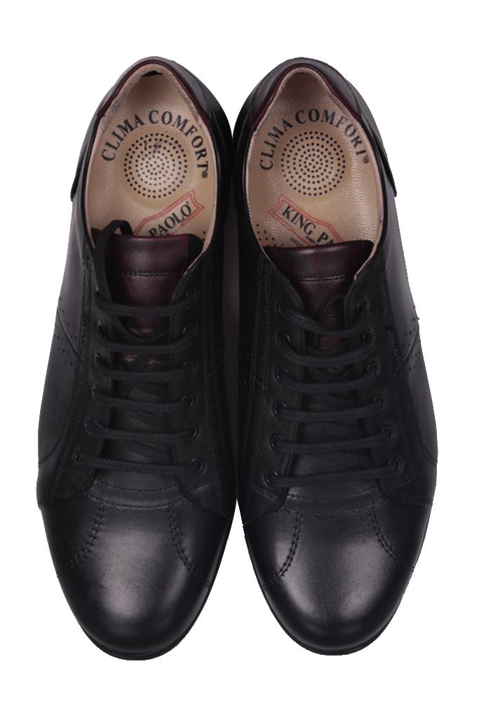 King Paolo 7140 013 Erkek Siyah Günlük Ayakkabı