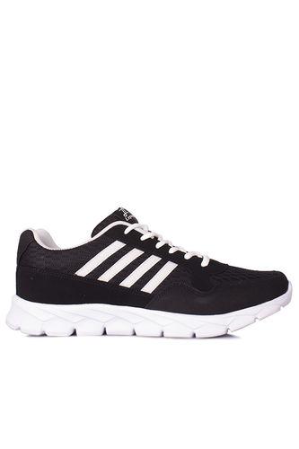 Lepons 392108 015 Erkek Siyah Beyaz Spor 45 46 47 48 Büyük Numara Ayakkabı