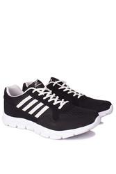 Lepons 392108 015 Erkek Siyah Beyaz Spor 45 46 47 48 Büyük Numara Ayakkabı - Thumbnail