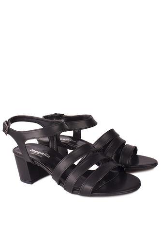 Fitbas - Fitbas 111141 014 Kadın Siyah Topuklu Büyük & Küçük Numara Sandalet (1)