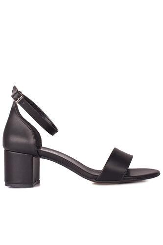 Fitbas 111272 014 Kadın Siyah Topuklu Büyük & Küçük Numara Sandalet