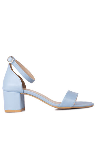 Fitbas 111272 424 Kadın Bebe Mavi Cilt Topuklu Büyük & Küçük Numara Sandalet