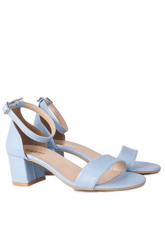 Fitbas - Fitbas 111272 424 Kadın Bebe Mavi Cilt Topuklu Büyük & Küçük Numara Sandalet (1)