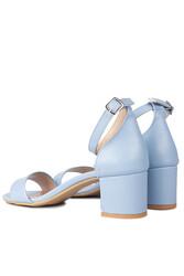 Loggalin 111272 424 Kadın Bebe Mavi Cilt Topuklu Sandalet - Thumbnail