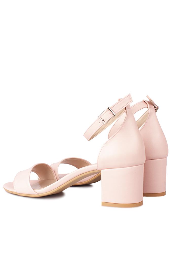 Fitbas 111272 719 Kadın Pudra Cilt Topuklu Büyük & Küçük Numara Sandalet