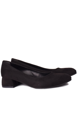 Fitbas - Fitbas 111301 008 Kadın Süet Siyah Büyük & Küçük Numara Ayakkabı (1)