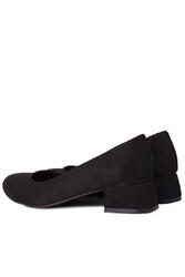 Fitbas 111301 008 Kadın Süet Siyah Büyük & Küçük Numara Ayakkabı - Thumbnail