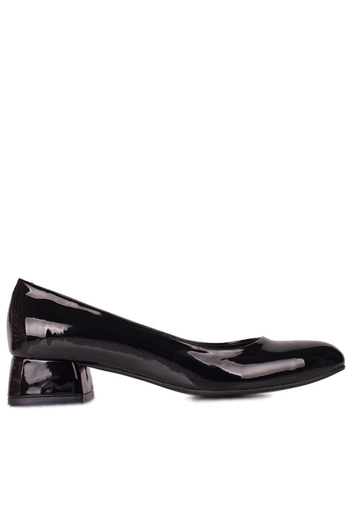 Fitbas 111301 020 Kadın Siyah Rugan Büyük & Küçük Numara Ayakkabı