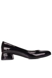 Fitbas 111301 020 Kadın Siyah Rugan Büyük & Küçük Numara Ayakkabı - Thumbnail