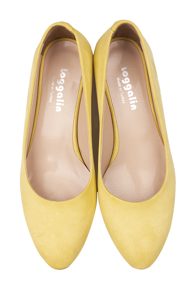 Fitbas 111301 127 Kadın Limon Sarı Süet Büyük & Küçük Numara Ayakkabı