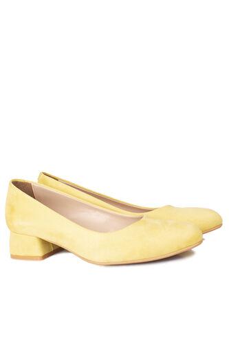 Loggalin - Loggalin 111301 127 Kadın Limon Sarı Süet Büyük & Küçük Numara Ayakkabı (1)