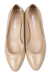Fitbas 111301 320 Kadın Ten Rugan Büyük & Küçük Numara Ayakkabı - Thumbnail
