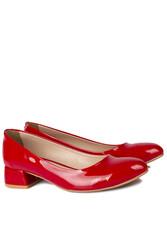 Loggalin 111301 520 Kadın Kırmızı Rugan Büyük & Küçük Numara Ayakkabı - Thumbnail
