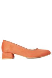 Fitbas 111301 532 Kadın Nar Çiçeği Süet Büyük & Küçük Numara Ayakkabı - Thumbnail