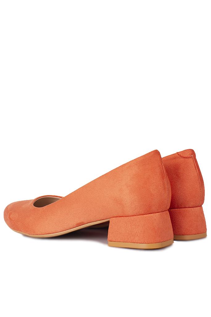 Fitbas 111301 532 Kadın Nar Çiçeği Süet Büyük & Küçük Numara Ayakkabı