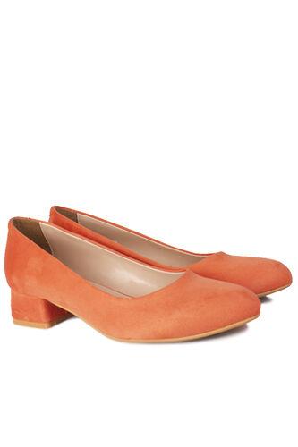 Loggalin - Loggalin 111301 532 Kadın Nar Çiçeği Süet Büyük & Küçük Numara Ayakkabı (1)