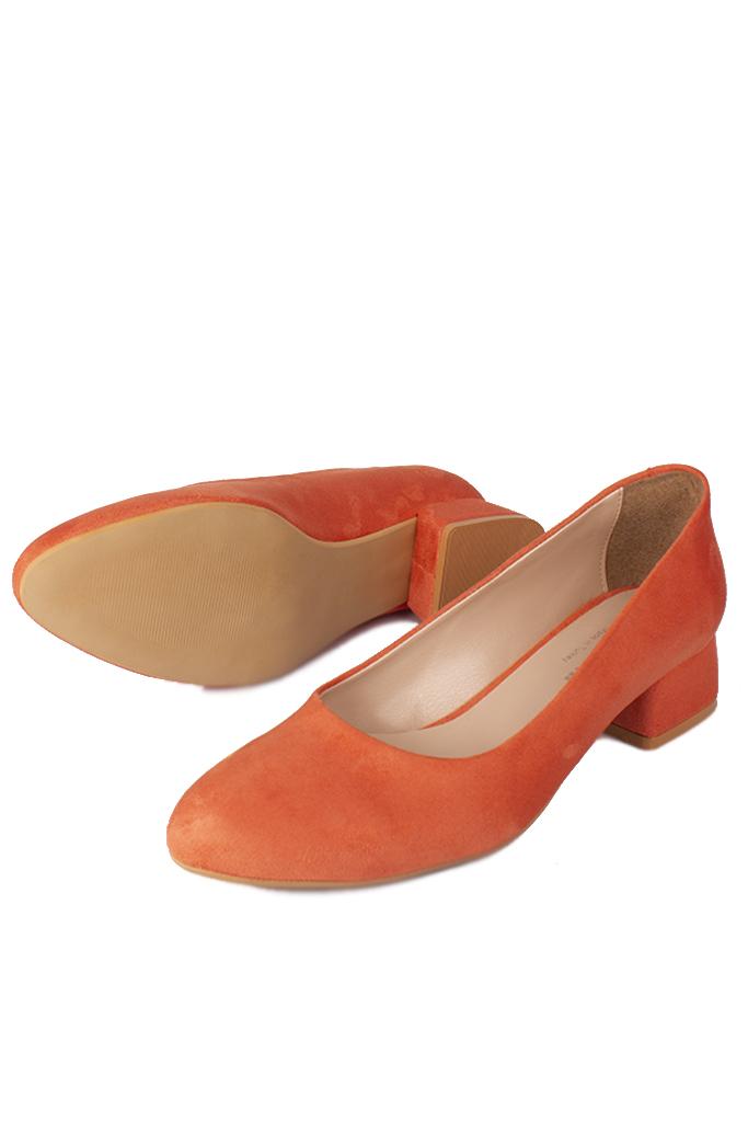 Loggalin 111301 532 Kadın Nar Çiçeği Süet Büyük & Küçük Numara Ayakkabı