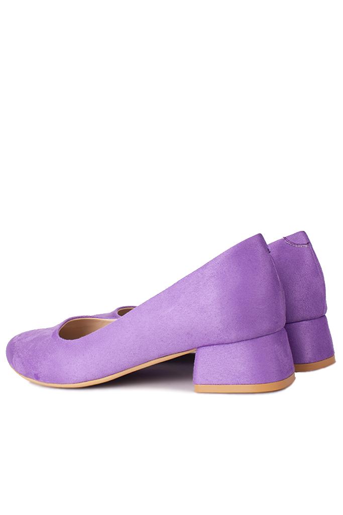 Fitbas 111301 930 Kadın Lila Süet Büyük & Küçük Numara Ayakkabı
