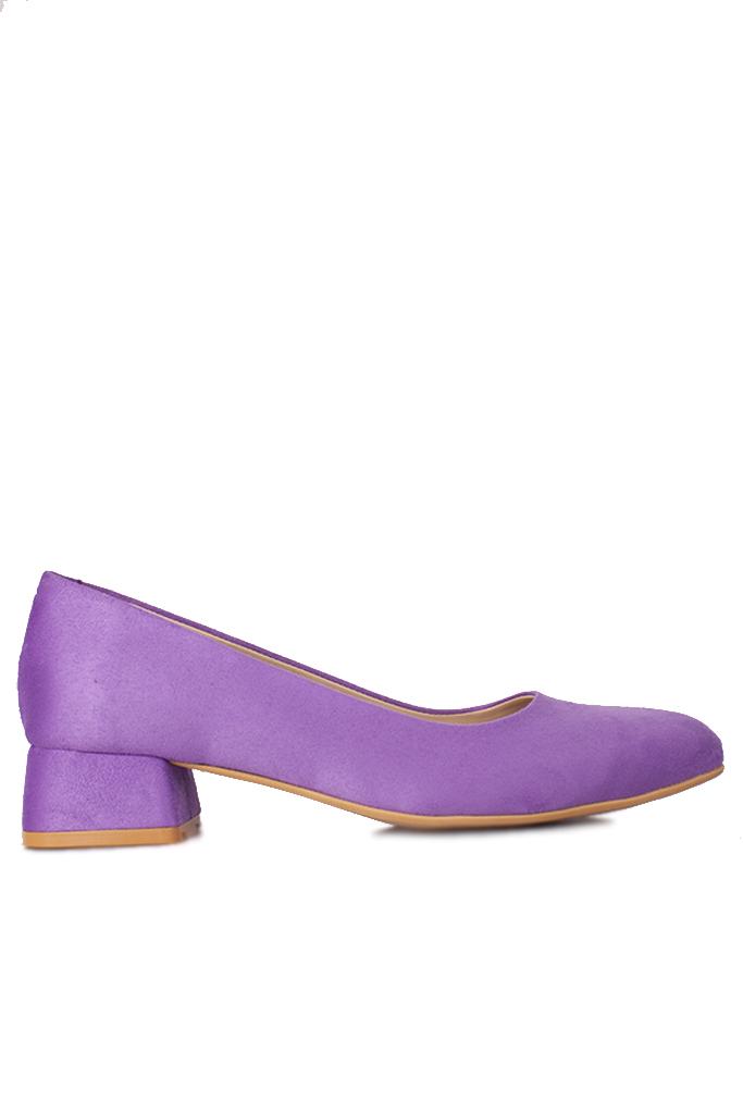 Loggalin 111301 930 Kadın Lila Süet Büyük & Küçük Numara Ayakkabı