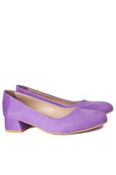 Loggalin 111301 930 Kadın Lila Süet Büyük & Küçük Numara Ayakkabı - Thumbnail