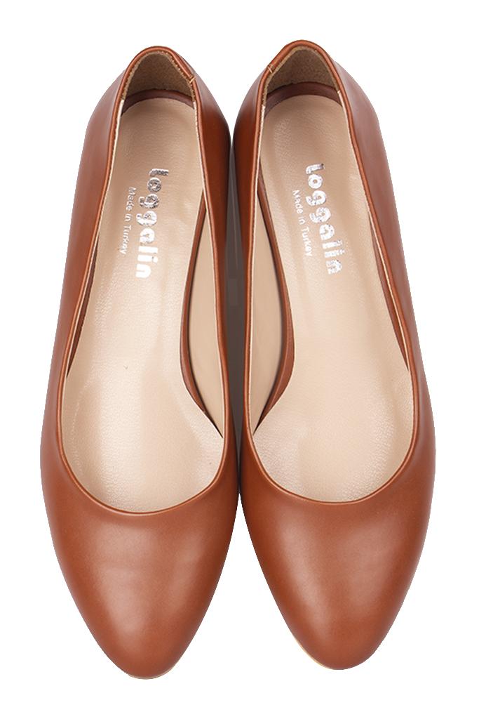 Loggalin 111301 162 Kadın Taba Süet Büyük & Küçük Numara Ayakkabı_Kopya(1)
