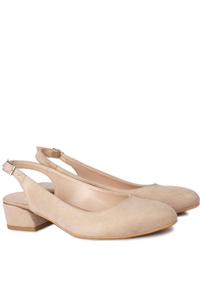 Fitbas 111306 327 Kadın Ten Süet Büyük & Küçük Numara Ayakkabı