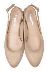 Fitbas 111306 327 Kadın Ten Süet Büyük & Küçük Numara Ayakkabı - Thumbnail