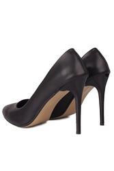 Loggalin 111500 014 Kadın Siyah Büyük & Küçük Numara Stiletto - Thumbnail