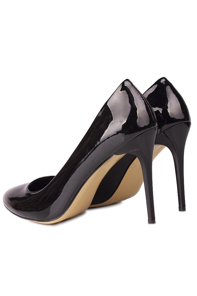 Loggalin 111500 020 Kadın Siyah Rugan Büyük & Küçük Numara Stiletto