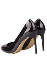Loggalin 111500 020 Kadın Siyah Rugan Büyük & Küçük Numara Stiletto - Thumbnail