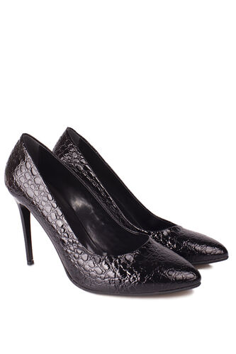 Loggalin - Loggalin 111500 024 Kadın Siyah Rugan Büyük & Küçük Numara Stiletto (1)