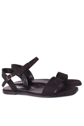 Fitbas - Fitbas 111602 008 Kadın Siyah Büyük & Küçük Numara Sandalet (1)