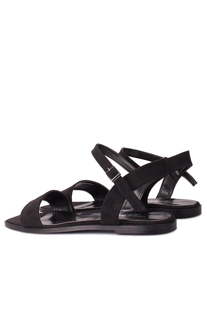 Loggalin 111602 008 Kadın Siyah Büyük & Küçük Numara Sandalet