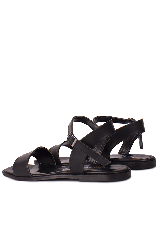 Fitbas 111602 014 Kadın Siyah Büyük & Küçük Numara Sandalet