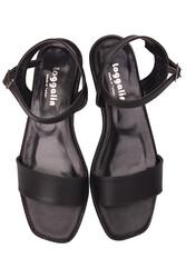 Fitbas 111602 014 Kadın Siyah Büyük & Küçük Numara Sandalet - Thumbnail