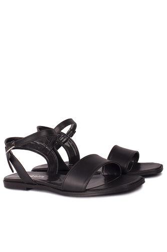 Loggalin - Loggalin 111602 014 Kadın Siyah Büyük & Küçük Numara Sandalet (1)