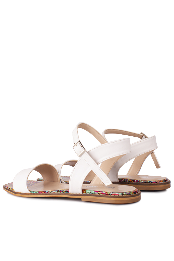 Fitbas 111602 960 Kadın Beyaz Büyük & Küçük Numara Sandalet