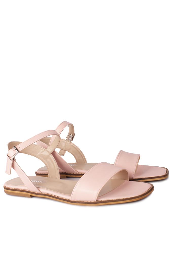 Fitbas 111602 719 Kadın Pudra Büyük & Küçük Numara Sandalet