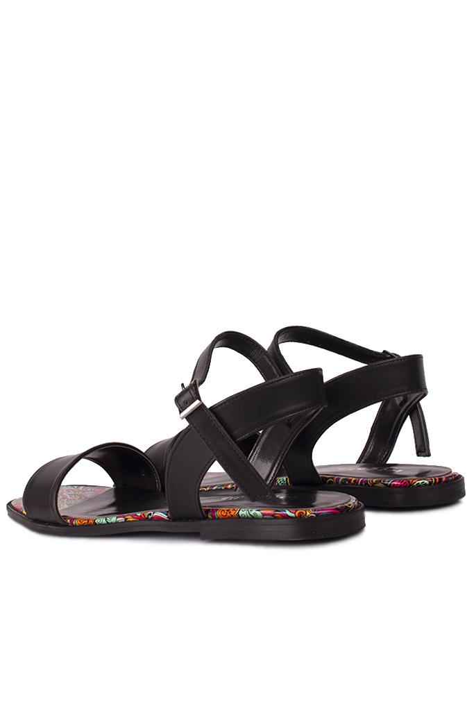 Loggalin 111602 940 Kadın Siyah Büyük & Küçük Numara Sandalet