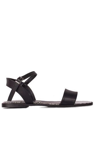 Fitbas 111602 941 Kadın Siyah Büyük & Küçük Numara Sandalet
